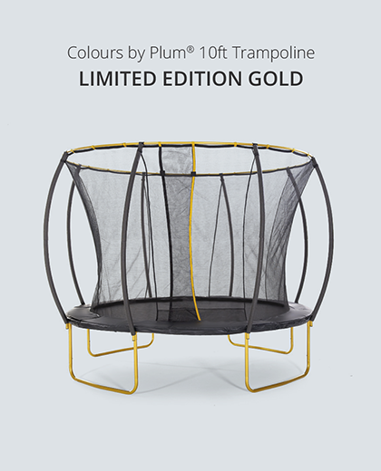 Limited Edition Plum Gold 10ft Trampoline