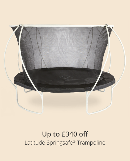 Up to £340 on our Latitude Range Trampolines