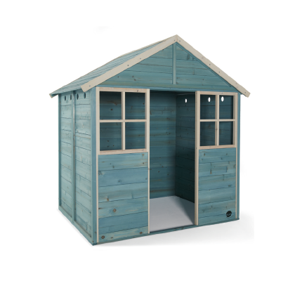GARDEN HUT WOODEN PLAYHOUSE – TEAL