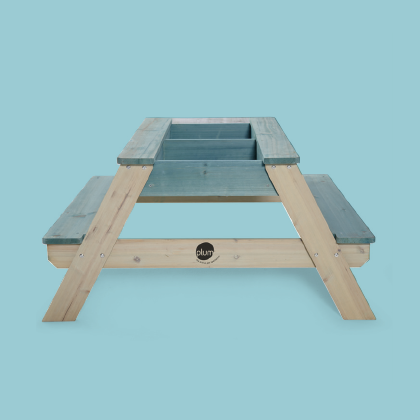SURFSIDE WOODEN SAND AND WATER PICNIC TABLE
