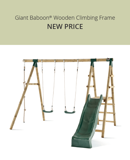 Plum Play Giant Baboon Wooden Swing Set