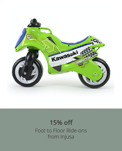 15% off Injusa Foot to Floor Ride-ons