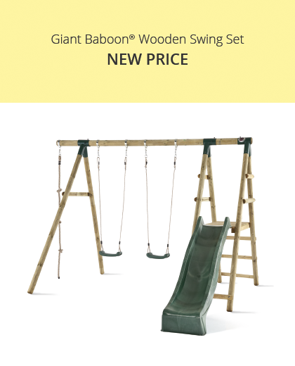 Giant Baboon Wooden Swing Set
